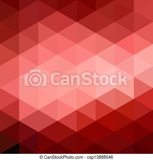 Abstract Red Geometrical Background - csp13888046