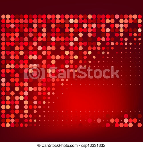 Abstract Red Halftone Background  - csp10331832