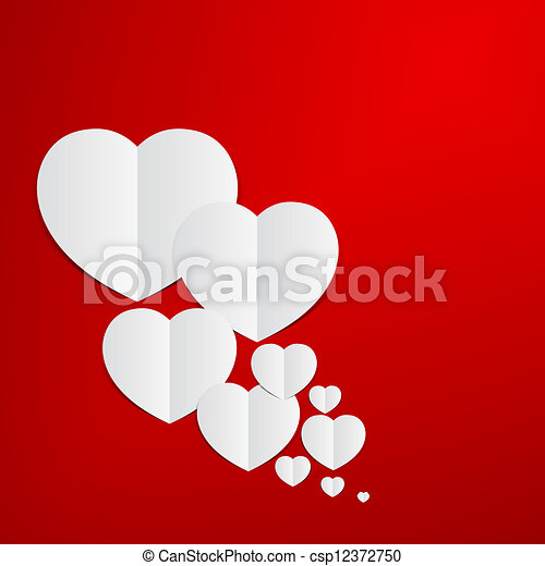 Abstract red heart paper background red heart paper clipart abstract red heart paper background csp12372750 voltagebd Images