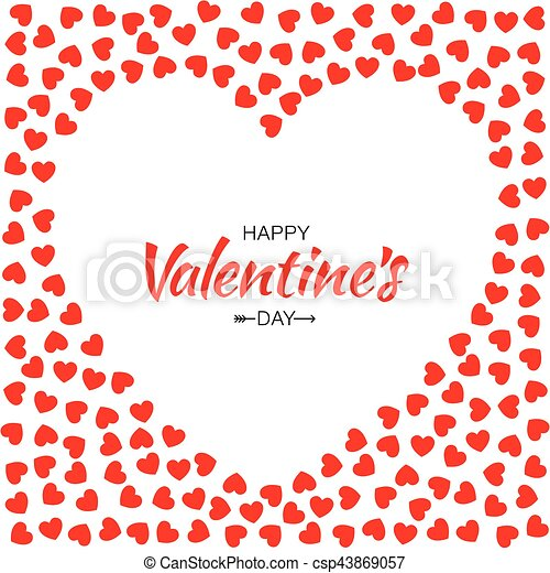 Abstract red hearts background for valentines day design vector ...