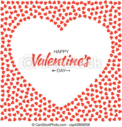 Abstract Red Hearts Background For Valentines Day Design Vector
