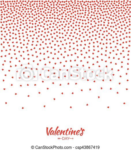 Abstract Red Hearts Gradient Background For Valentines Day Design Vector Illustration Card Wedding Invitation Card Backdrop Design Element Of