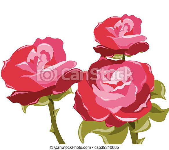 Abstract red rose background - csp39340885