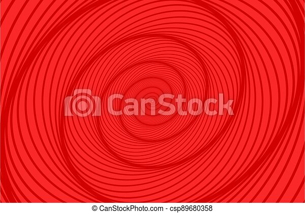 Abstract red spiral background - csp89680358