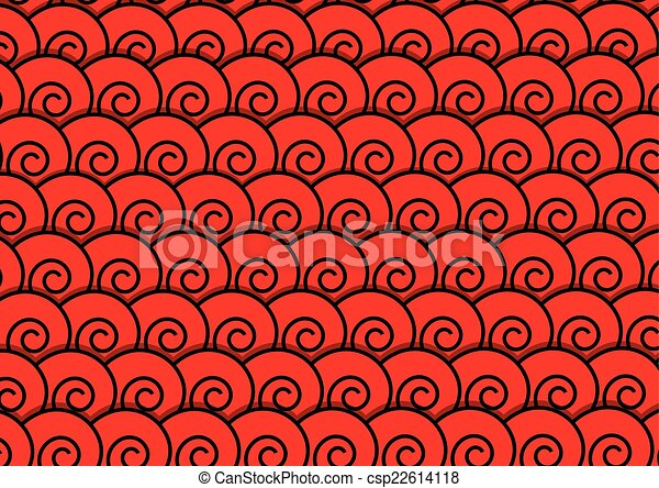 Abstract red spiral background - csp22614118