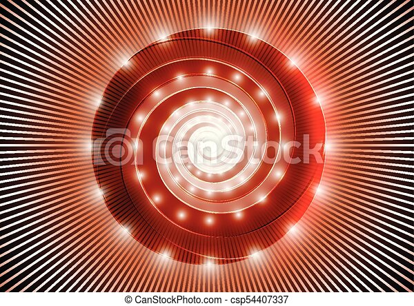Abstract red spiral - csp54407337