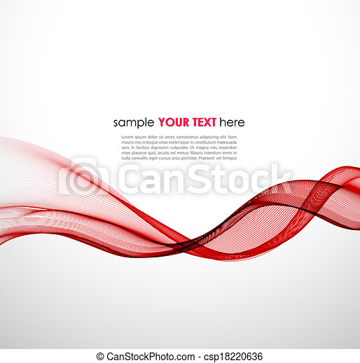 Abstract red wave vector background - csp18220636