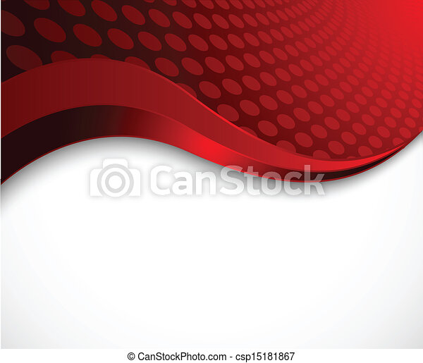 Abstract red wavy background - csp15181867