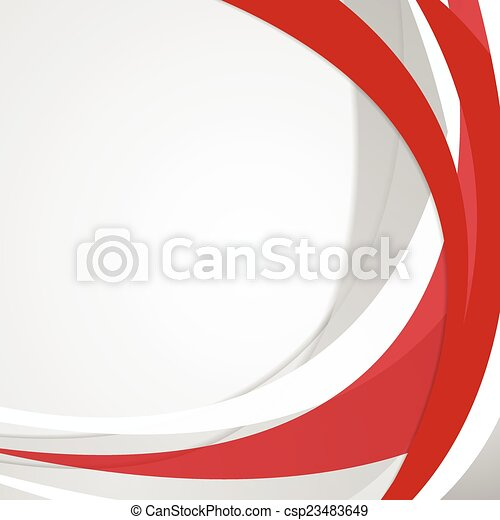 Abstract red wavy vector background - csp23483649
