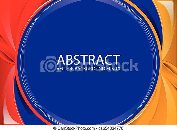Abstract Red Yellow Blue Background