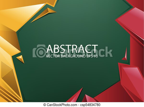 Abstract Red Yellow Green Background