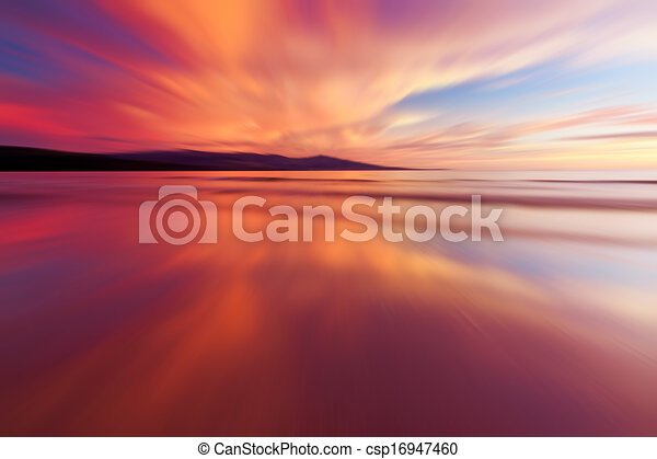 Abstract reflection of sunset - csp16947460
