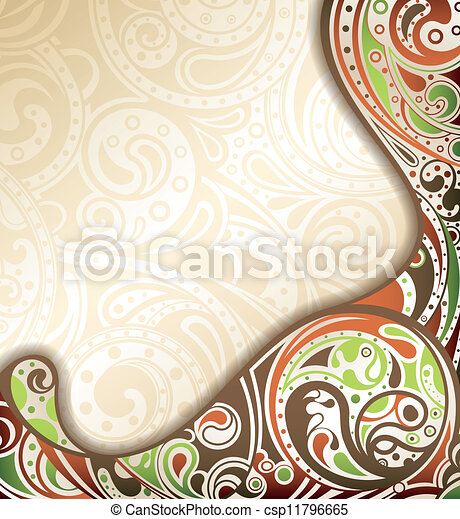 Abstract Retro Curve Background - csp11796665
