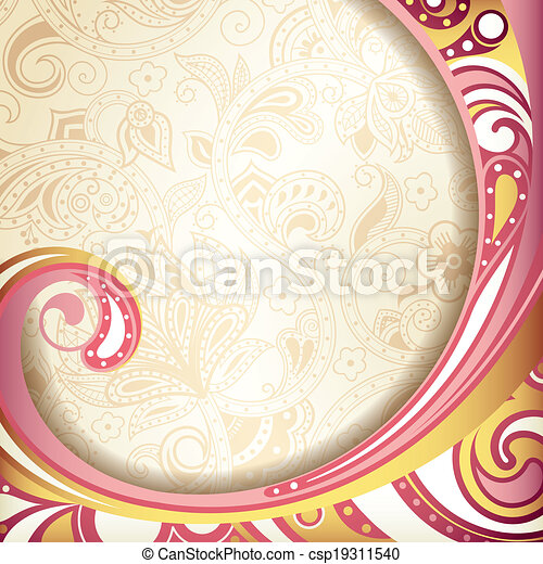 Abstract Retro Curve Background - csp19311540