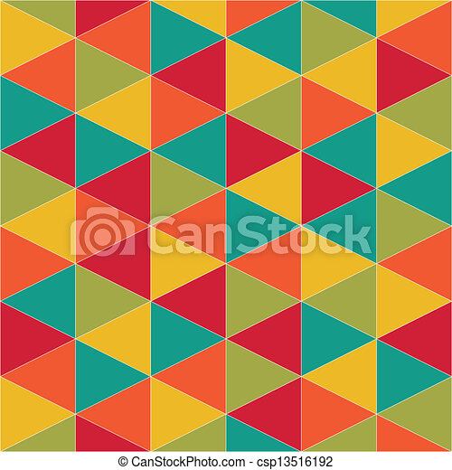 abstract retro geometric pattern - csp13516192