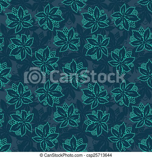 Abstract retro seamless with grapes pattern - csp25713644