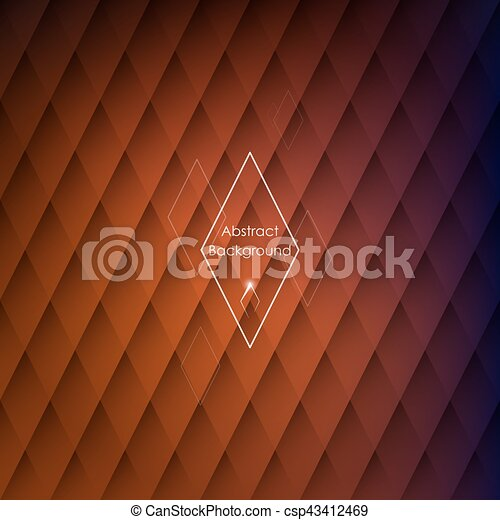 Abstract Rhombic Orange Background