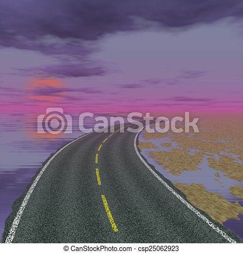 Abstract road landscape generated background - csp25062923