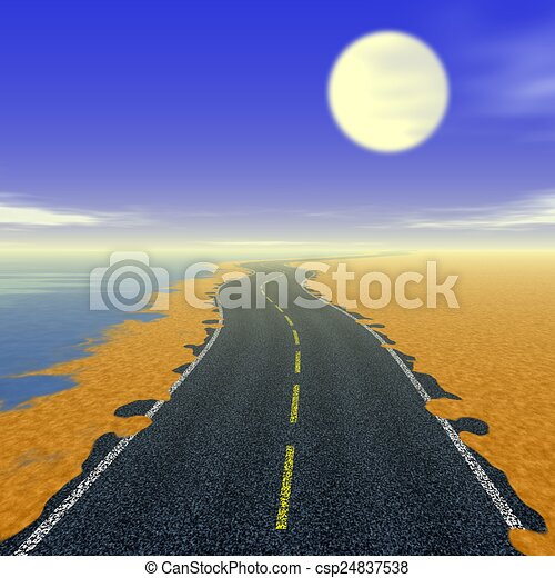 Abstract road landscape generated background - csp24837538
