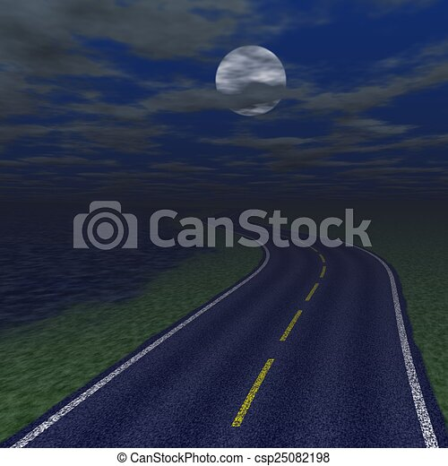 Abstract road landscape generated background - csp25082198