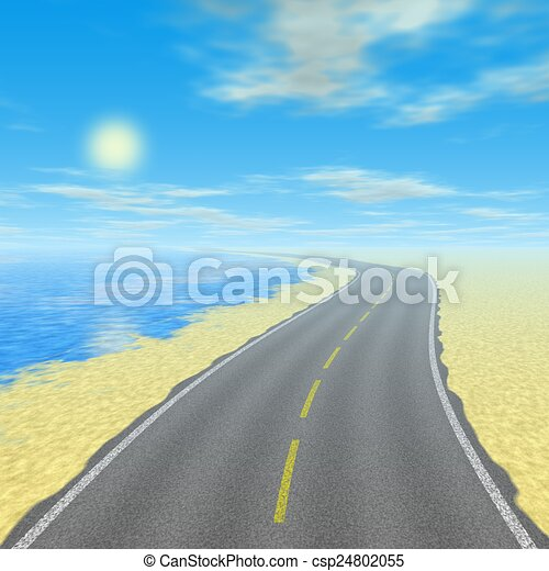 Abstract road landscape generated background - csp24802055