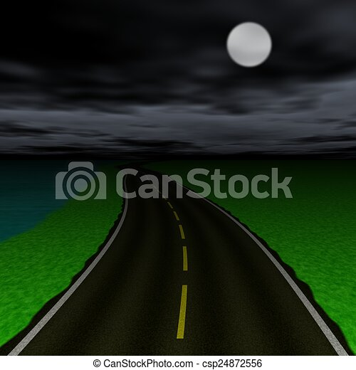 Abstract road landscape generated background - csp24872556