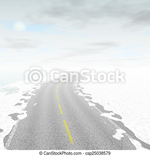 Abstract road landscape generated background - csp25038579