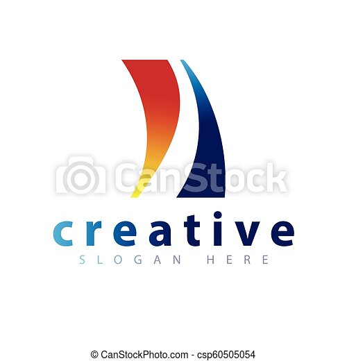 Abstract Road Logo icon vector template - csp60505054