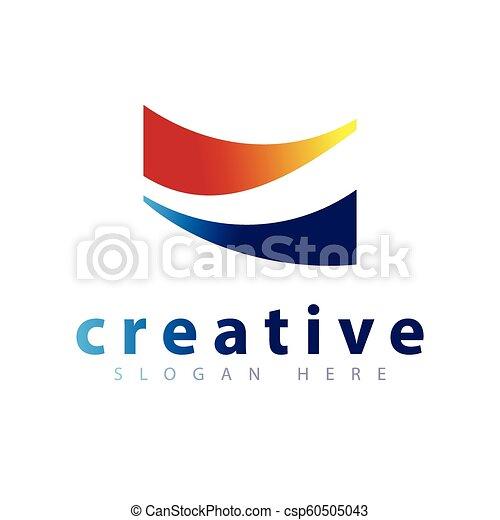 Abstract Road Logo icon vector template - csp60505043