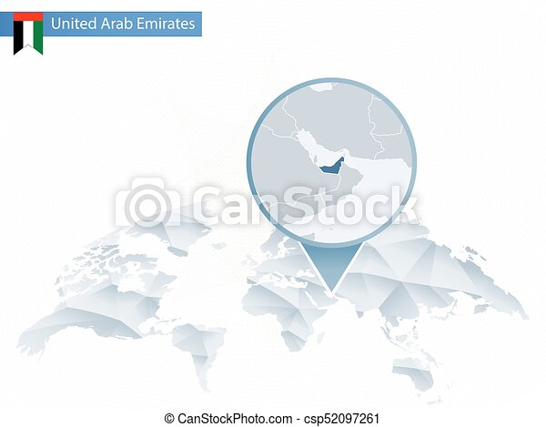 Abstract rounded World Map with pinned detailed United Arab Emirates on austria world map, slovakia world map, kuwait world map, norway world map, guatemala world map, sierra leone world map, cambodia world map, bahrain world map, uzbekistan world map, iraq world map, sudan world map, china world map, pakistan world map, jordan world map, afghanistan world map, persian gulf map, cyprus world map, arabian sea world map, uganda world map, middle east map,