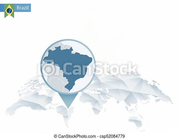 Abstract rounded world map with pinned detailed brazil map vector abstract rounded world map with pinned detailed brazil map csp52084779 gumiabroncs Image collections
