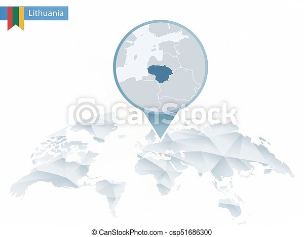 Abstract rounded world map with pinned detailed lithuania map map abstract rounded world map with pinned detailed lithuania map map and flag of lithuania vector illustration gumiabroncs Gallery