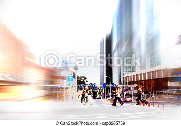 Abstract rush hour - csp8285759