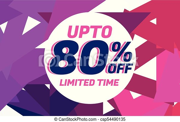 abstract sale background banner voucher template - csp54490135