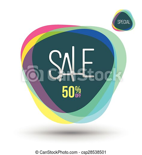 Abstract SALE banner. - csp28538501