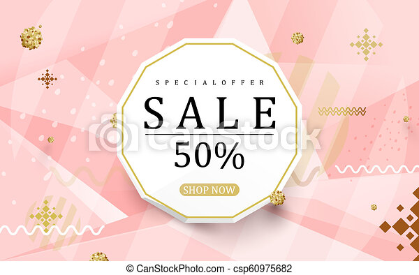 Abstract sale colorful banner backgrounds - csp60975682