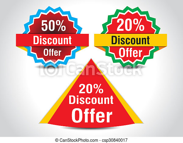 Abstract Sale Tag Template Design Vector Illustration Stock