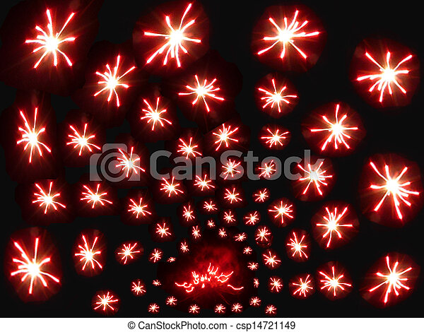 Abstract salute on black background - csp14721149
