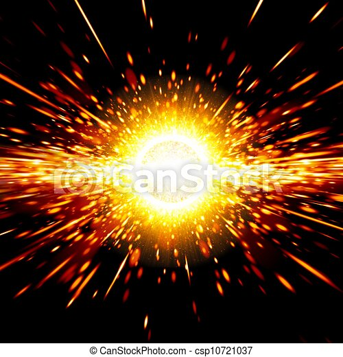 Abstract Science Background Big Exploding In Space Big Bang Theory