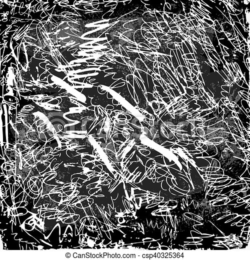 Abstract Scribbles On A Blackboard