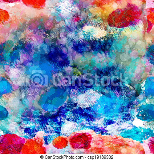 Abstract sea seamless pattern. Vector, EPS 10 - csp19189302