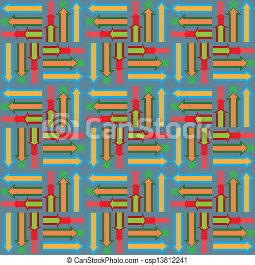 Abstract seamless background with arrows - csp13812241