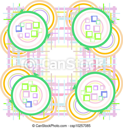 Abstract seamless background with colorful design, vector - csp10257085