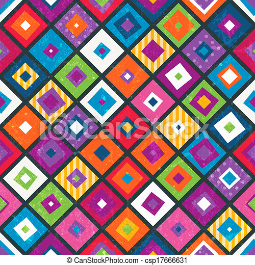 Abstract seamless background with squares. - csp17666631