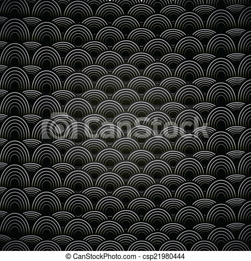 Abstract seamless black and white background with circles. - csp21980444