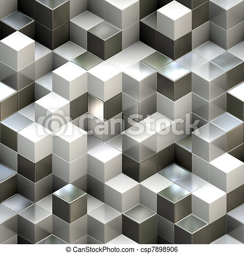 Abstract seamless cube background - csp7898906