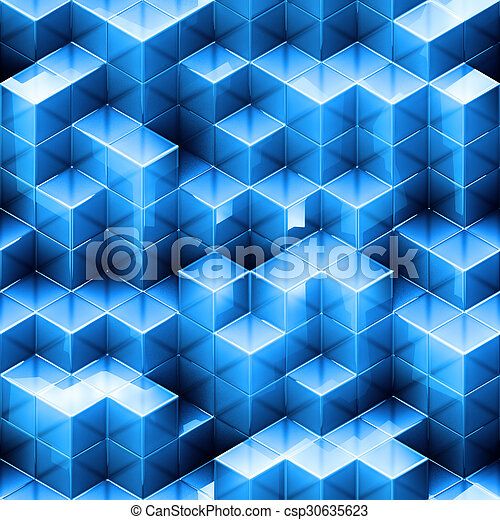 Abstract seamless cube background  - csp30635623