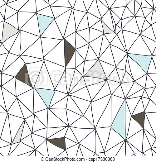 Abstract seamless doodle pattern - csp17330363