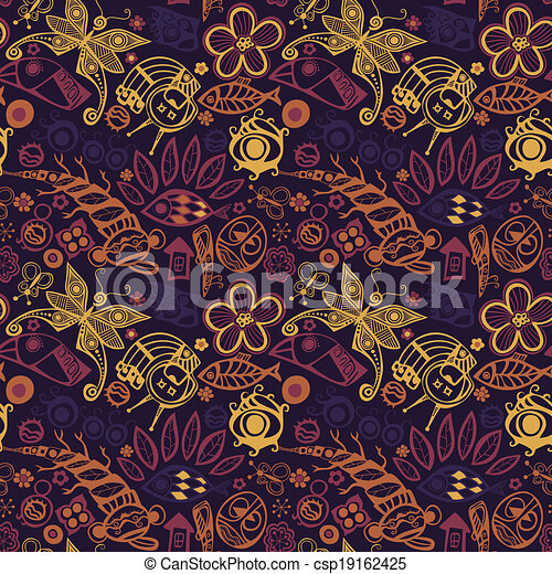 Abstract seamless pattern. - csp19162425