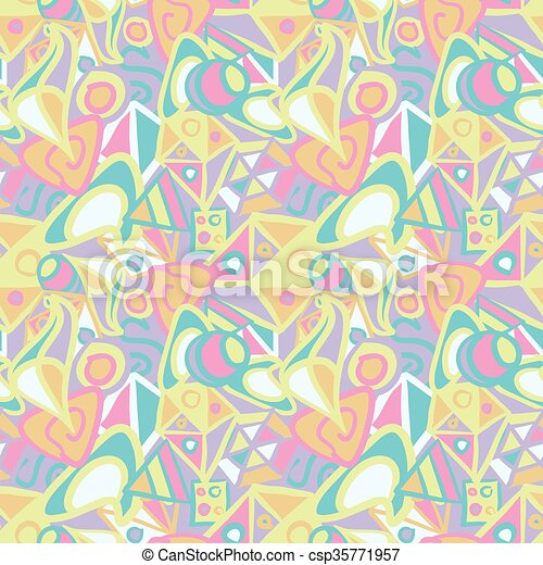 Abstract seamless pattern in pastel colors - csp35771957